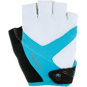 Roeckl Bregenz Bike Gloves white/turquoise